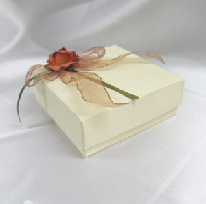 decorative flower paper open rose - Decorative Gift Boxes