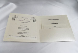 pocketfold wedding invitations, paper inserts,gift boxes, ribbon, Wedding invitations