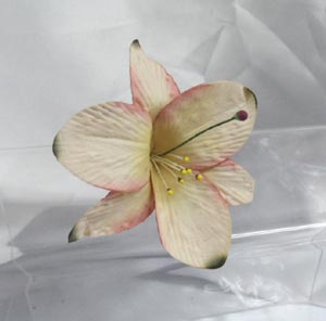 Paper lily flower decoration