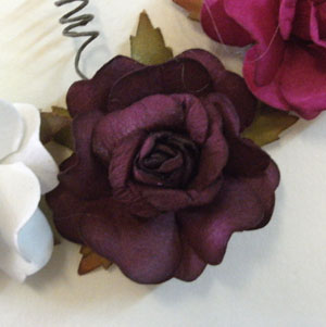Paper Open Rose Decoration